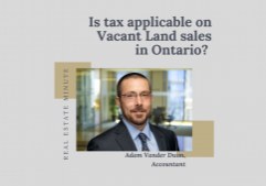 Do you need to pay tax on vacant land sales?